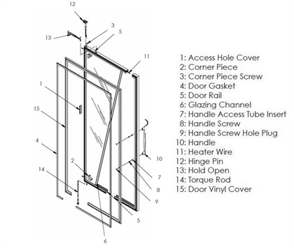 Picture for category 101, 101EF, 103, 2100, 2103, 5001 Door Layout